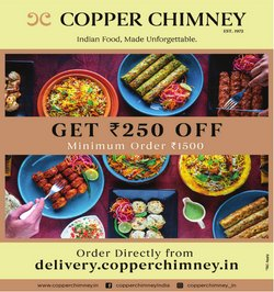 Copper Chimney offers in the Copper Chimney catalogue ( 4 days left)