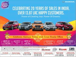 Cars, motorcycles & spares offers in the Honda catalogue in Delhi