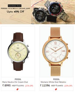 Fossil offers in the Shoppers Stop catalogue ( 4 days left)