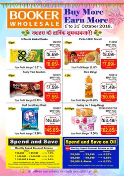 Oil offers in the Booker Wholesale catalogue in Delhi