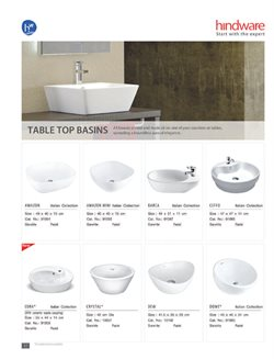 Table offers in the Hindware catalogue in Delhi