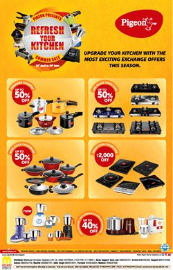 Offers from Pigeon Appliances in the Bangalore leaflet