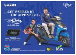 Cars, motorcycles & spares offers in the Yamaha catalogue in Hyderabad