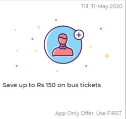 Redbus coupon ( 4 days left )