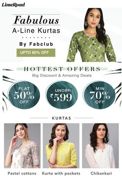 Clothes, shoes & accessories offers in the Limeroad catalogue in Delhi ( 1 day ago )