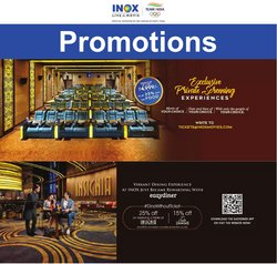Books & Cinema offers in the Inox Movies catalogue ( 7 days left)