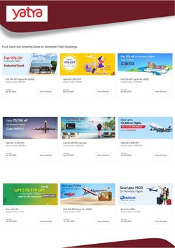 Offers of Flights in Yatra Domestic Flight