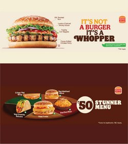 Restaurants offers in the Burger King catalogue ( Expires today)