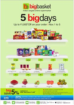 Supermarkets offers in the Big Basket catalogue in Delhi