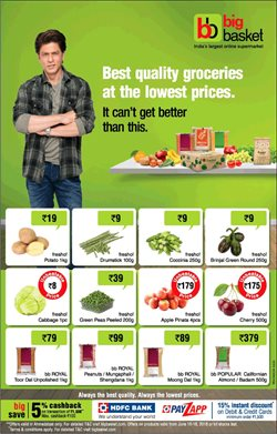Offers from Big Basket in the Bangalore leaflet