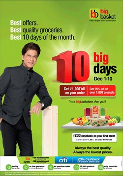 Offers from Big Basket in the Mumbai leaflet
