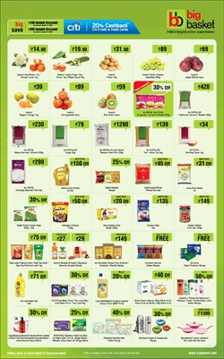 Sandals offers in the Big Basket catalogue in Lucknow