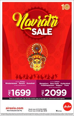 Travel offers in the Air Asia catalogue in Delhi