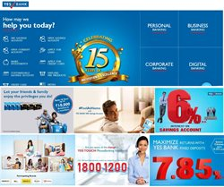 Banks & ATMs offers in the Yes Bank catalogue in Delhi