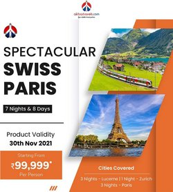 Travel offers in the Akbar Travels catalogue ( More than a month)