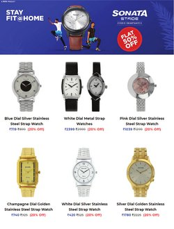 Jewellery offers in the Sonata Watches catalogue ( Published today)