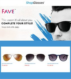 Shop Glasses offers in the Shop Glasses catalogue ( 10 days left)