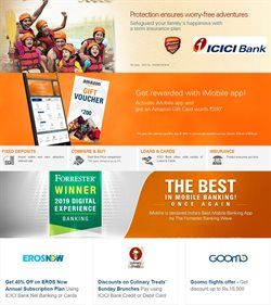Offers from ICICI Bank in the Delhi leaflet