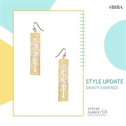 Earrings offers in the Biba catalogue in Delhi