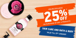 Sales offers in the The Body Shop catalogue in Delhi