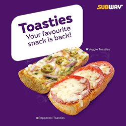 Restaurants offers in the Subway catalogue in Kolkata