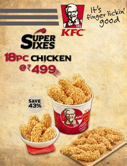 Restaurants offers in the KFC catalogue in Agra