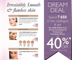 Offers from Oriflame in the Loni leaflet