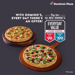 Restaurants offers in the Domino's Pizza catalogue in Delhi