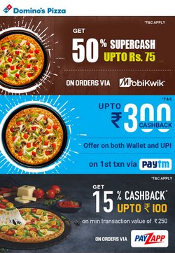 Offers of Bags in Domino's Pizza