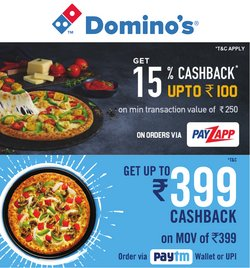 Restaurants offers in the Domino's Pizza catalogue ( 5 days left)