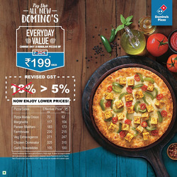 Restaurants offers in the Domino's Pizza catalogue in Agra