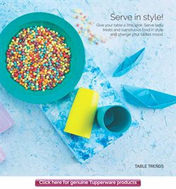 Table offers in the Tupperware catalogue in Delhi