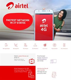 Offers from Airtel in the Delhi leaflet