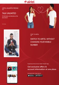 Airtel offers in the Airtel catalogue ( 8 days left)