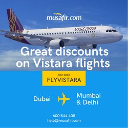 Offers of Flights in Musafir