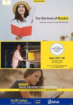 Books & Cinema offers in the Crossword catalogue ( 10 days left)
