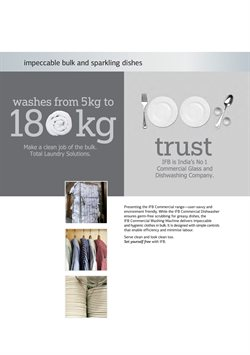 Washing machine offers in the IFB catalogue in Delhi