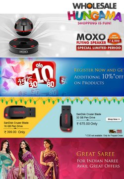Mobiles & Electronics offers in the Wholesale Hungama catalogue ( Expires today)