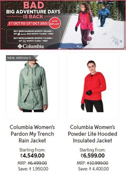 Sports offers in the Columbia Sportswear catalogue ( 5 days left)