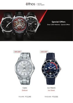 Jewellery offers in the Ethos Watches catalogue ( 1 day ago)