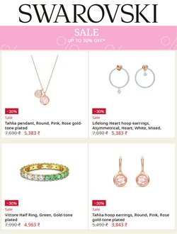 Jewellery offers in the Swarovski catalogue ( Published today)