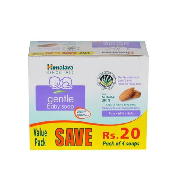 Himalaya Baby Baby Soap - Gentle  4X75 Gm offer at ? 139.5