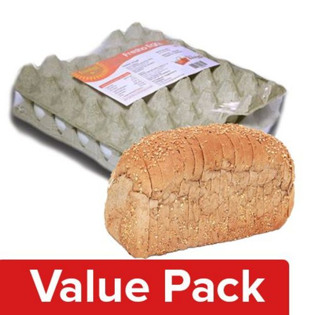 Fresho Bread - Whole Wheat, Chemical Free 400G + Eggs - Table Tray 30pcs offer at ? 236.05