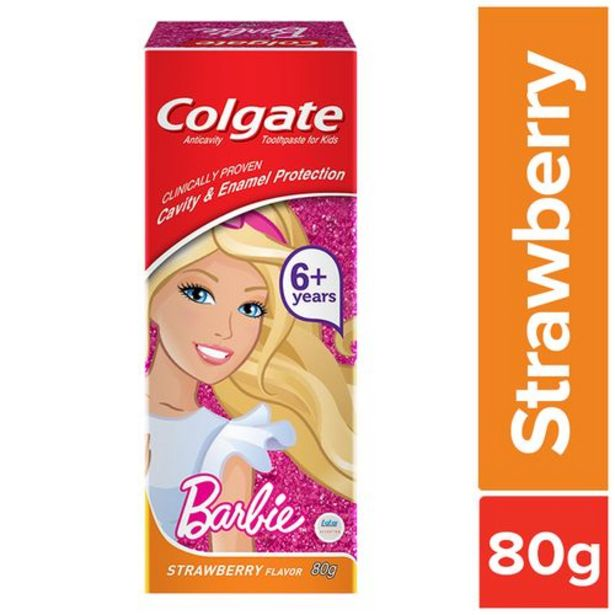 Colgate Kids Toothpaste - 6+ Years, Strawberry Flavour, Barbie offer at ? 88.35