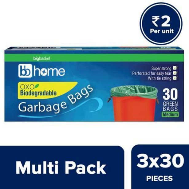 BB Home Garbage Bags - Oxo Biodegradable Medium, Green, (19x21 Inches) offer at ? 185.25