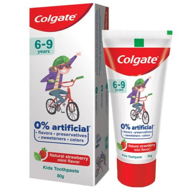 Colgate Kids Toothpaste - 6-9 Years, Natural Strawberry Mint Flavour, 0% Artificial offer at ? 113