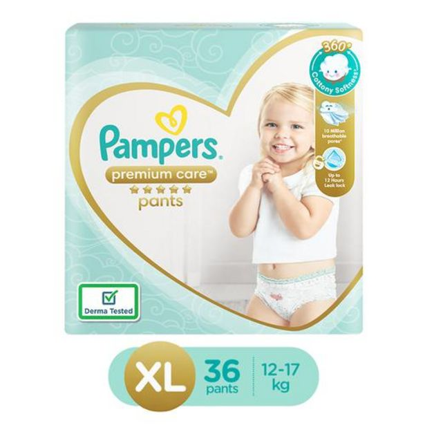 Pampers  Premium Care Diapers - 360 Cottony Softness, Extra Large offer at ? 763.67