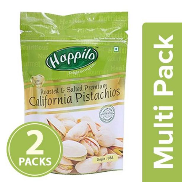 Happilo Pistachios - Roasted & Salted, Premium Californian offer at ? 523.8