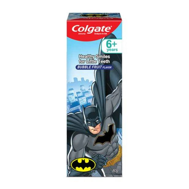 Colgate Kids Anticavity Toothpaste - 6+ Years, Bubble Fruit Flavour, Batman offer at ? 88.35