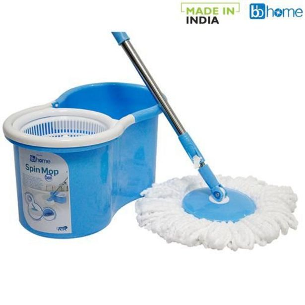 BB Home Spin Mop Bucket-360 Degree With 2 Refills offer at ? 599